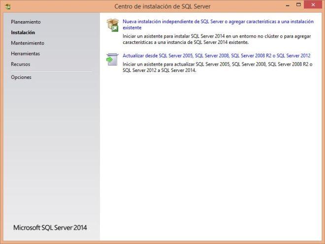 SQL Server Inicio del proceso de instalación