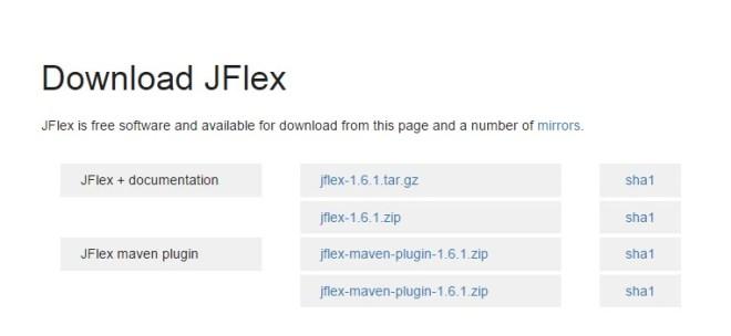 Descargar JFlex