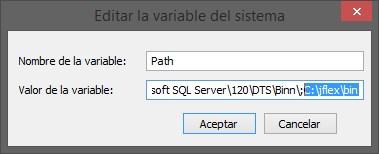 Editar variable del sistema